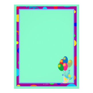 PARTY INVITATION CARTOON  Letterhead Basic 2