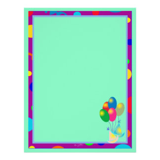 PARTY INVITATION CARTOON  Letterhead Felt 2