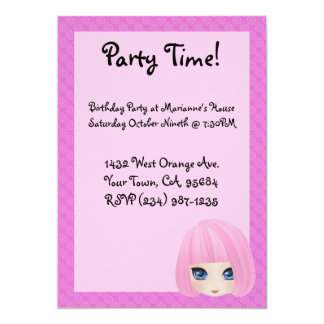 Party Invitation Girly Girl Marianne