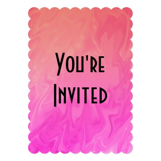 Party Invitation Pink Orange Texture