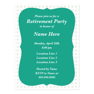 Party Invitation Postcard