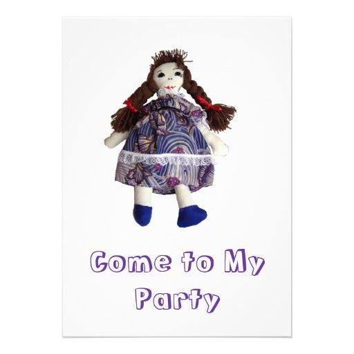 Party Invitation - Rag Doll