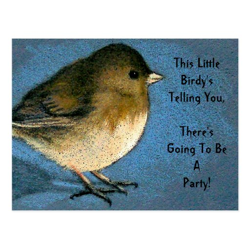 PARTY INVITE: LITTLE BIRDY TOLD YOU: ART POST CARDS