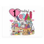 Party Kittens 1st Birthday Tshirts and Gifts Post Card