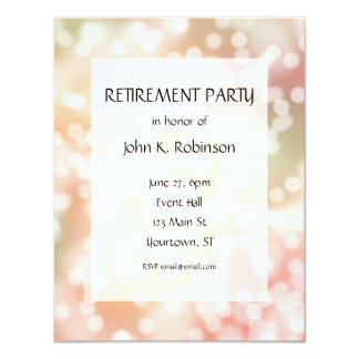 Party lights Retirement Party Invitation