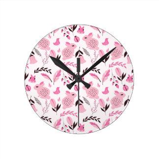 Party Lika A Rabbit Lady (Cute Pattern) Wall Clocks