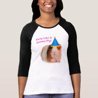 Party Like A Guinea Pig - 3/4 Sleeve Shirt