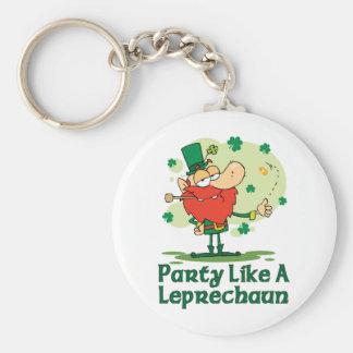 Party Like a Leprechaun Keychain