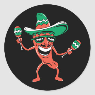 Party like a Pepper Classic Round Sticker