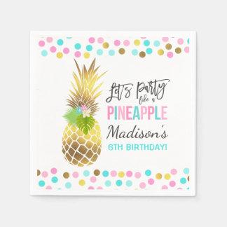 Party Like A Pineapple Birthday Party Napkin Disposable Napkin