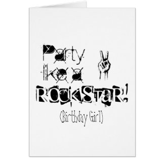 Party like a rockstar birthday card