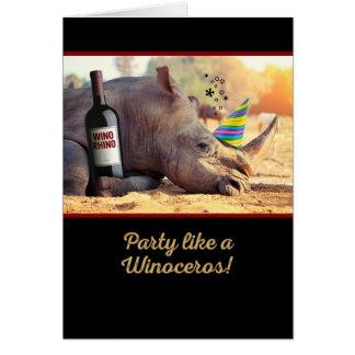 Party Like a Winoceros Birthday Card