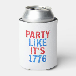 Party Like It's 1776 // July 4th Glitter Text Can Cooler