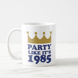 Party Like It's 1985 in Kansas City, Missouri Classic White Coffee Mug