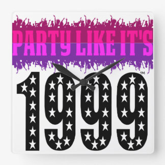 Party Like It's 1999® - Clock - Des 03 Starred