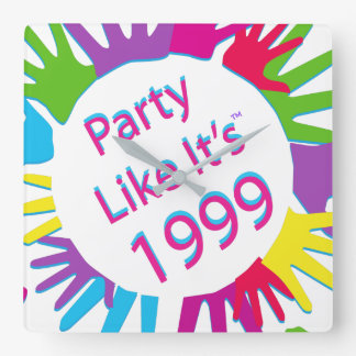 Party Like It's 1999® - Clock - Des 05 Circle Hand