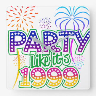 Party Like It's 1999® - Clock - Des 06 Palm Tree
