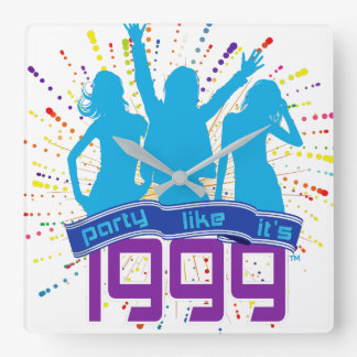 Party Like It's 1999® - Clock - Des 09 Cyan People