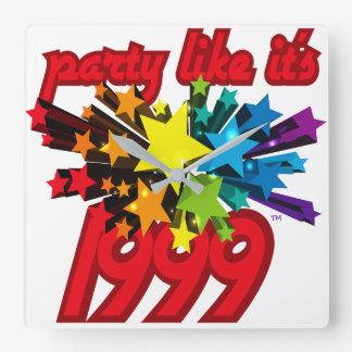 Party Like It's 1999® - Clock - Des 10 Star Power