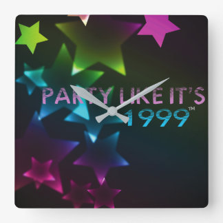 Party Like It's 1999® - Clock - Des 11 Faded Stars