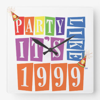 Party Like It's 1999® - Clock - Des 12 Party Hat