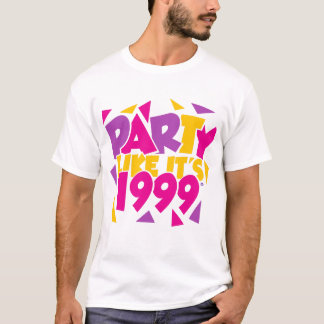 Party Like It's 1999® - T-Shirt - Des 01 Gold-Pink