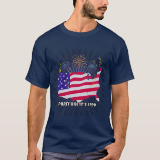 Party Like It's 1999® - T-Shirt - Des 07 USA Light