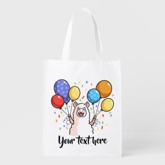 Party Llama Reusable Grocery Bag
