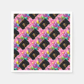 Party Long Hair Black Doxie Disposable Napkin