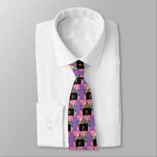 Party Long Hair Black Doxie Tie