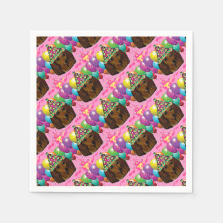 Party  Long Haired Red Doxie Paper Napkin