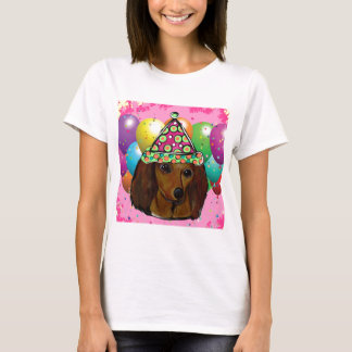 Party  Long Haired Red Doxie T-Shirt