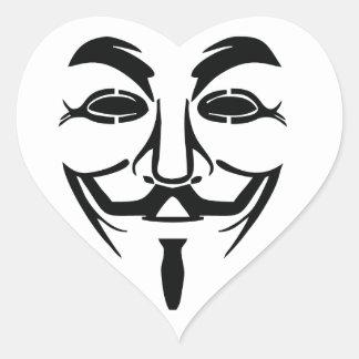 party mask heart sticker