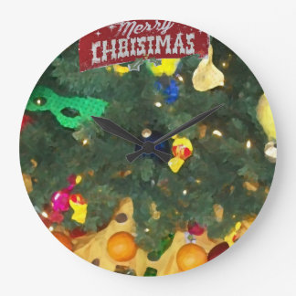 Party Merry Christmas_reloj Large Clock