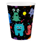 Party Monster Colourful Monsters Kids Party Paper Cup