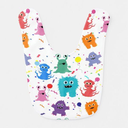 Party Monsters Happy Little Monster Birthday Bibs