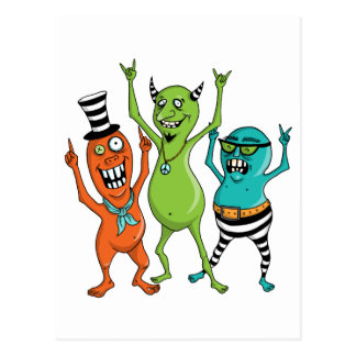 Party Monsters Post Cards