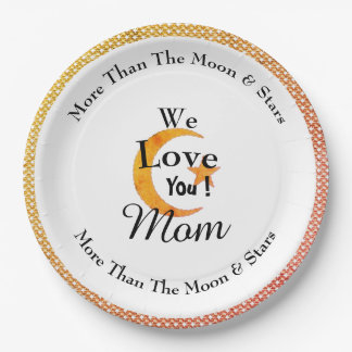 Party-Mother's_Moon-Love--Celebrations_Monogram 9 Inch Paper Plate