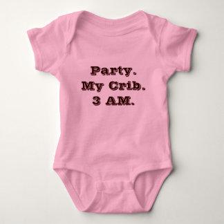 Party. My Crib. 3 AM. Baby Bodysuit