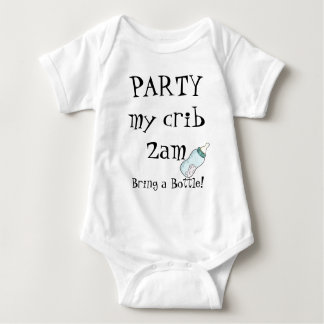 Party my crib bring botle baby bodysuit