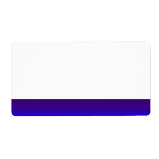 Party Name Tag Label blue