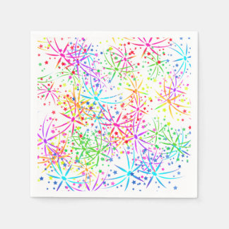 Party Napkin rainbow fireworks  Lighthouse Route