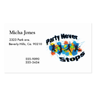 Party Never Stops Pack Of Standard Business Cards