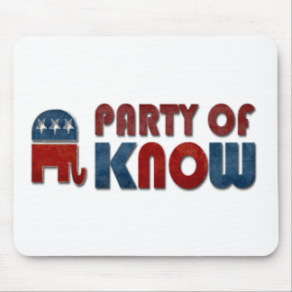 Party of Know Funny Republican Pun Mouse Pad