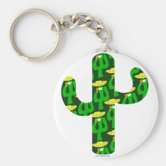 Party On Cactus Keychain