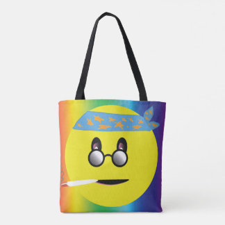 Party On Smile Face Tote Bag