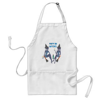 PARTY ON WITCHES HALLOWEEN PRINT STANDARD APRON