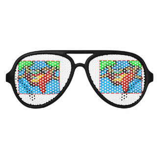 PARTY PARROT AVIATOR SUNGLASSES