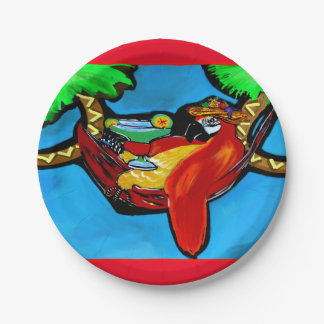 PARTY PARROT PAPER PLATE