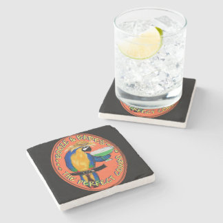Party Parrot Stone Coaster